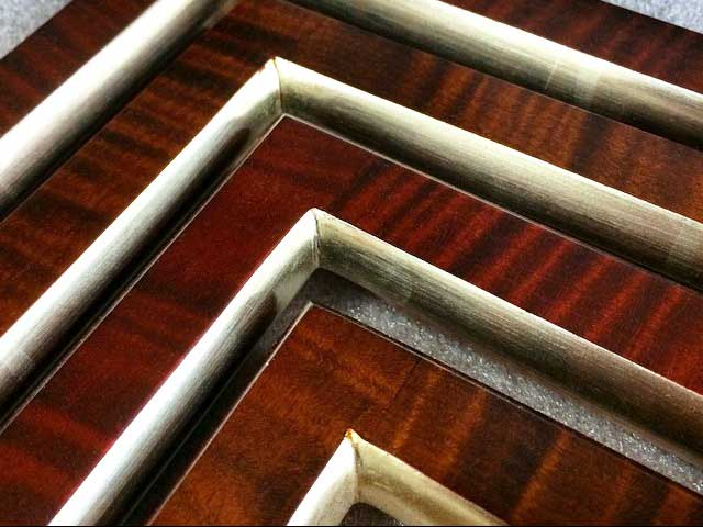tiger-maple-white-gold-leaf-accented-custom-frames