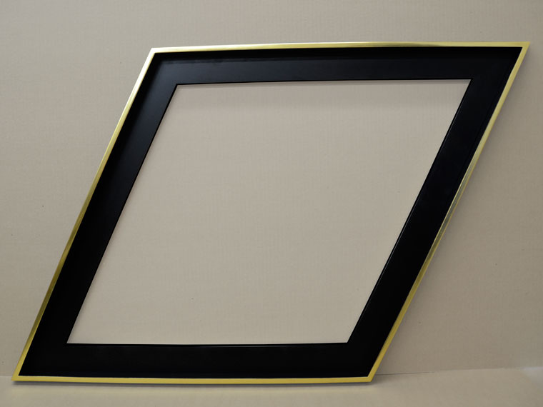yellow genuine gold leaf custom picture frame