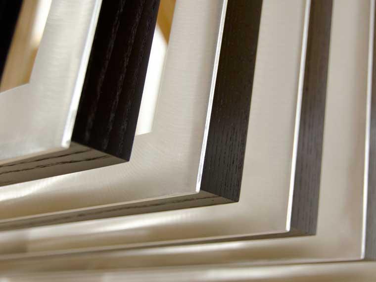 flat aluminum ebony hardwood frames