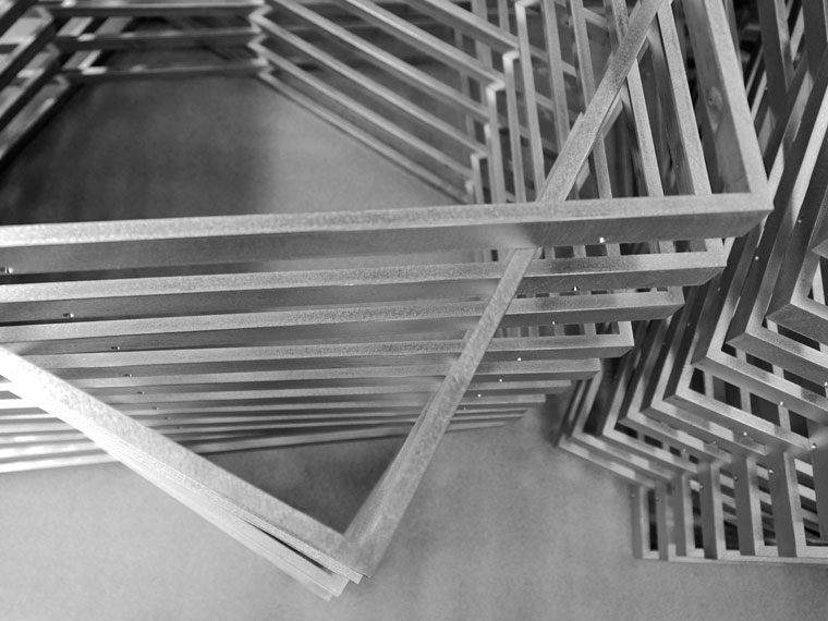 welded aluminum picture frames stack