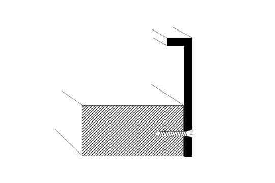 welded aluminum picture frame diagram