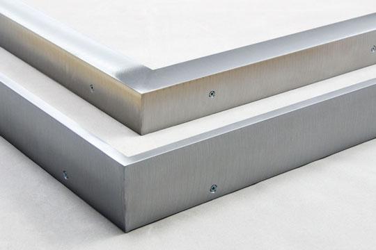 brushed welded aluminum picture frames