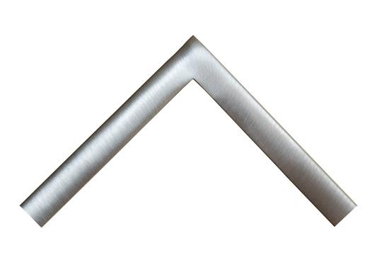 Brushed satin welded steel picture frame
