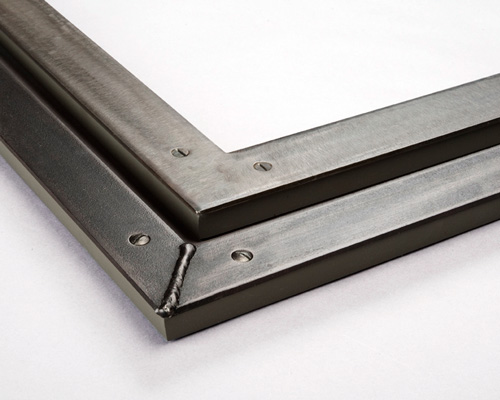 flat corner welded steel picture frames