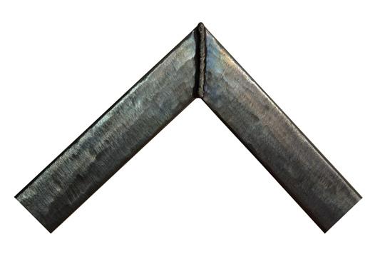 hammered blue welded steel picture frame