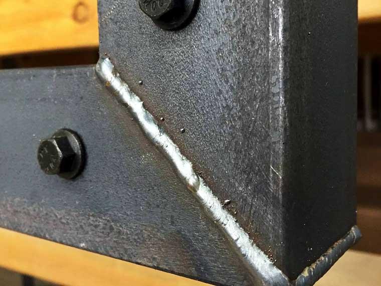 industrial welded steel custom picture frame