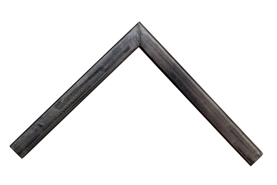 pitted slate color welded steel picture frame