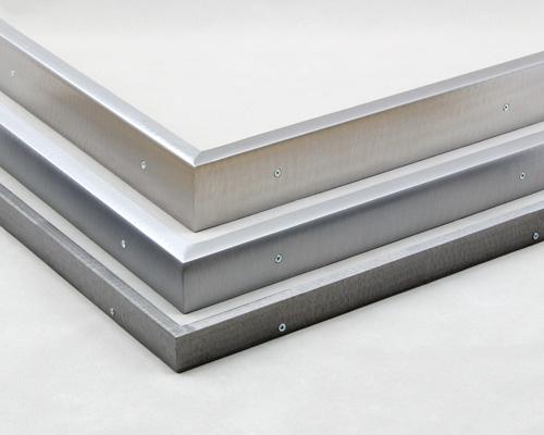 grinded pattern welded steel picture frames