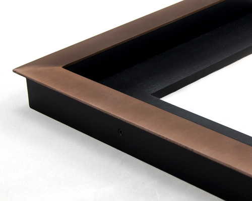 bronze color welded steel picture frames