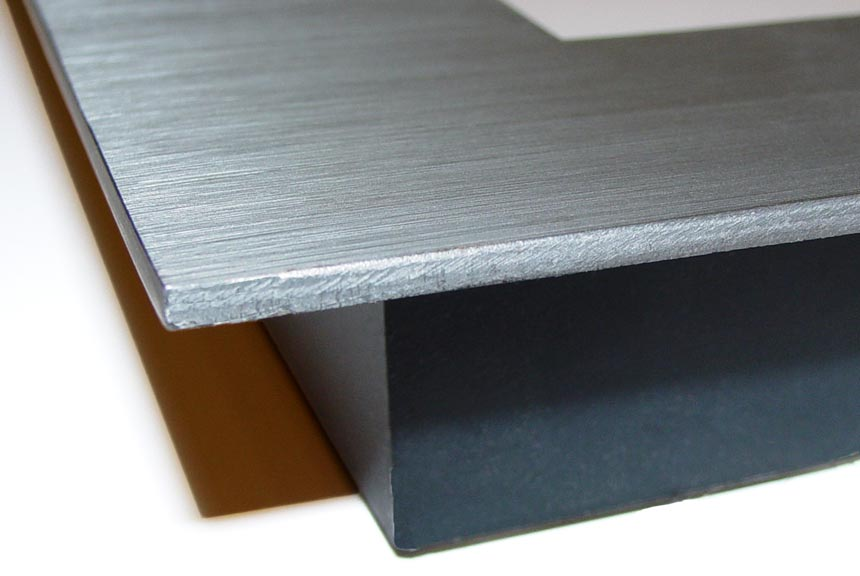 t shaped welded steel picture frame