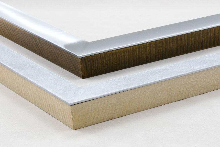 wood veneer aluminum custom frames