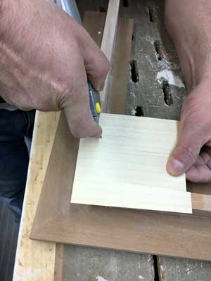 maple-veneer-over-cherry-removal-excess