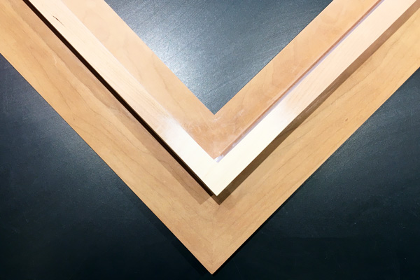 sanded-down-maple-veneer-cherry-hardwood-frame-corner-completed